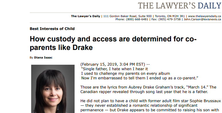 How Custody And Access Work For Co-Parents Like Drake