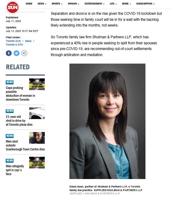 Diana Isaac in the Toronto Sun.