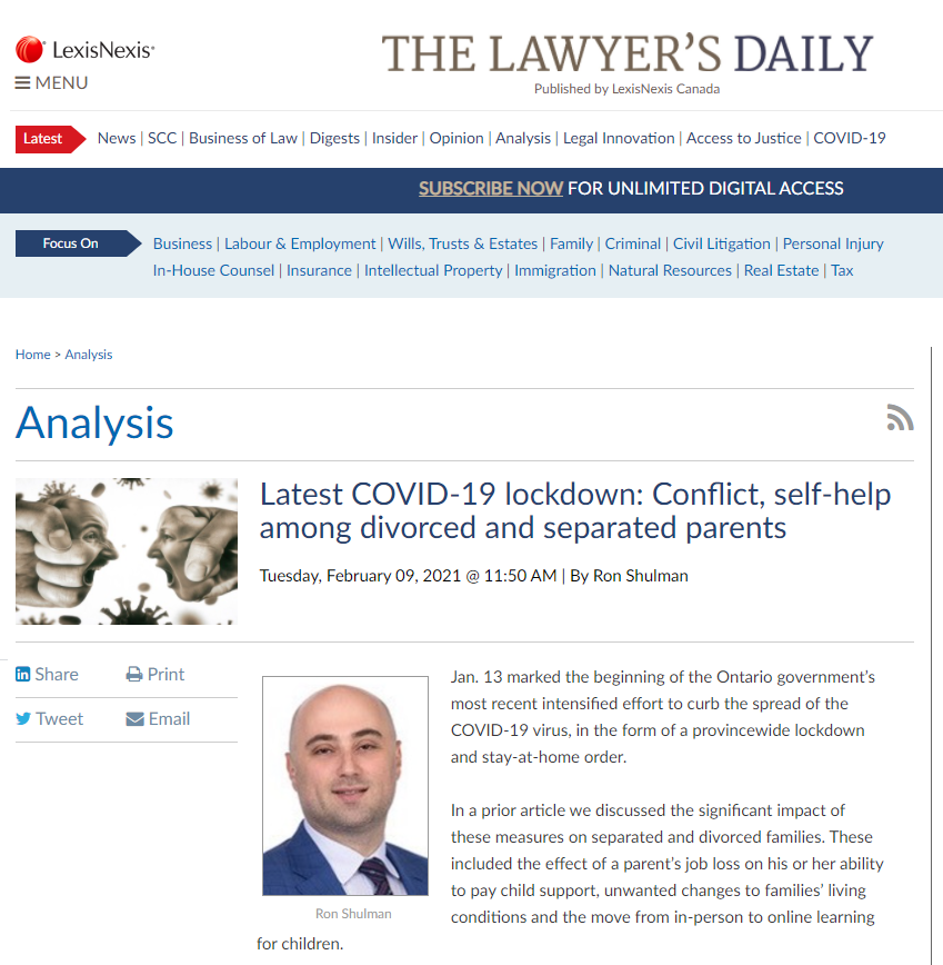 COVID Lockdown The Lawyer's Daily